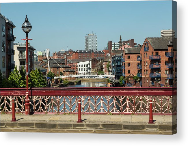 English Culture Acrylic Print featuring the photograph Leeds Waterfront Developments by P A Thompson