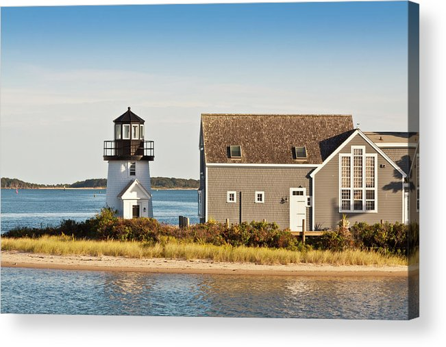 Grass Acrylic Print featuring the photograph Lewis Bay Lighthouse, Hyannis, Cape by Olegalbinsky