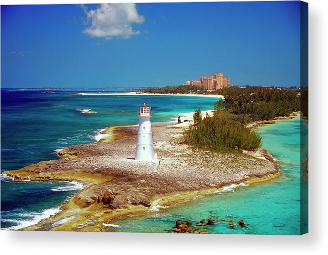 Outdoors Acrylic Print featuring the photograph Lighthouse On Paradise Island-nassau by Medioimages/photodisc