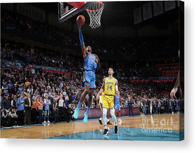 Nba Pro Basketball Acrylic Print featuring the photograph Los Angeles Lakers V Oklahoma City by Joe Murphy