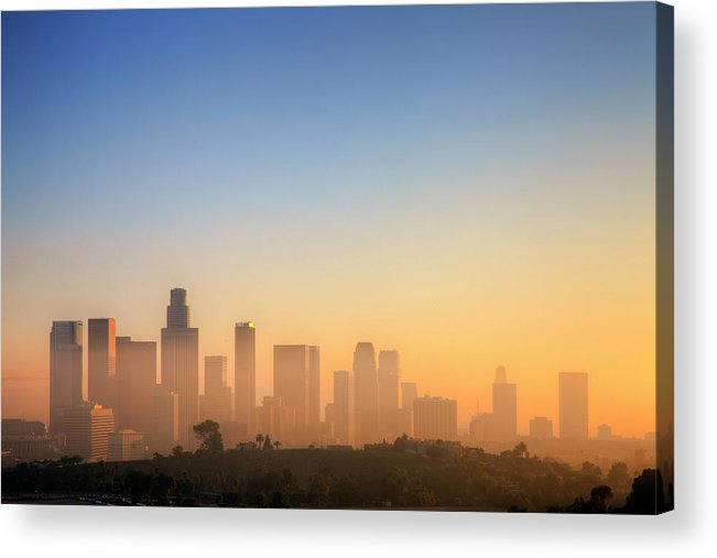 Tranquility Acrylic Print featuring the photograph Los Angeles Sunset by Eric Lo