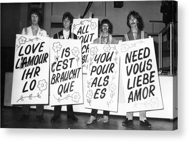 People Acrylic Print featuring the photograph Love Is All You Need by Jim Gray