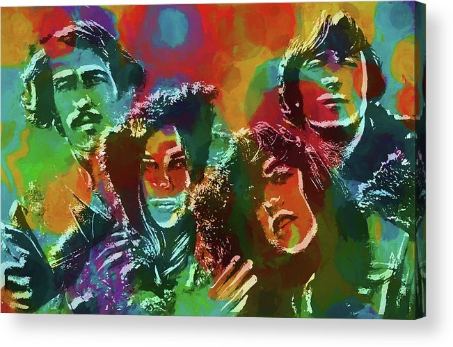 Mamas And The Papas Acrylic Print featuring the painting Mamas And The Papas by Dan Sproul