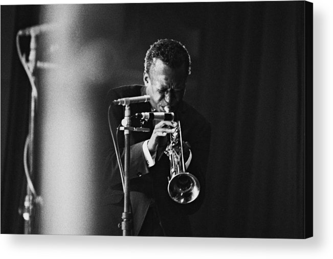Concert Acrylic Print featuring the photograph Miles Davis In Paris, France In 1964 - by Herve Gloaguen
