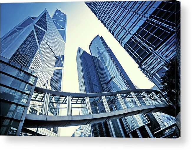 Corporate Business Acrylic Print featuring the photograph Modern Office Buildings by Nikada