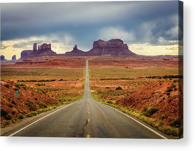 Scenics Acrylic Print featuring the photograph Monument Valley by Posnov