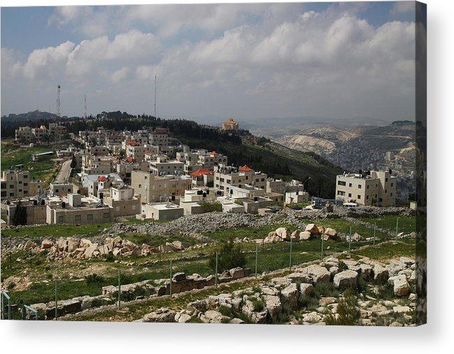 Tranquility Acrylic Print featuring the photograph Mount Gerizim, Samaritan Community by Gunter Hartnagel