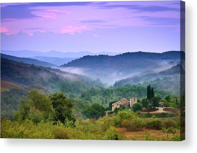 Scenics Acrylic Print featuring the photograph Mountains by Christian Wilt