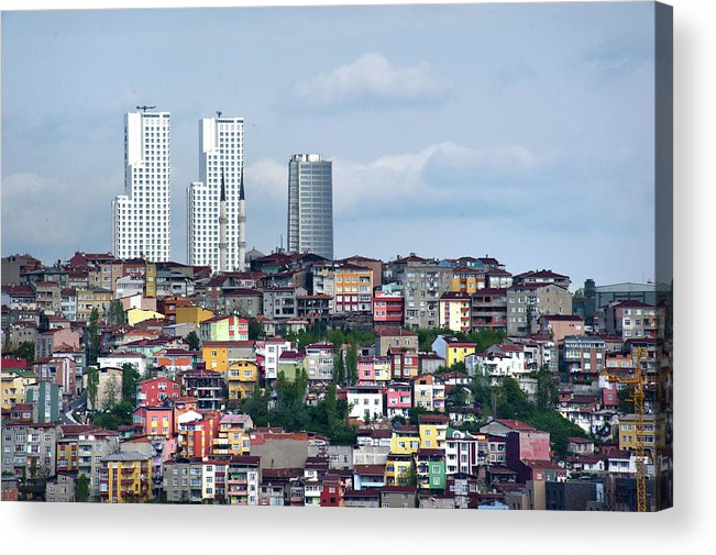 Istanbul Acrylic Print featuring the photograph New Istanbul by Alain Bachellier