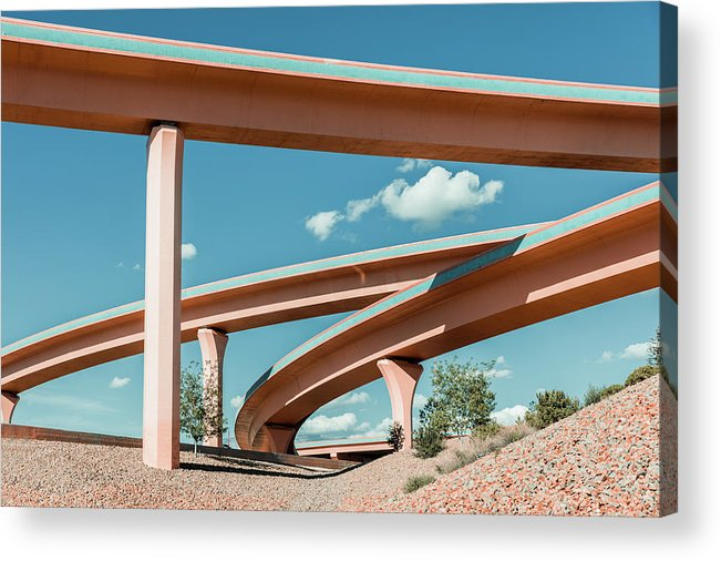 Autobahn Acrylic Print featuring the photograph New Mexico Albuquerque Interstate by Mlenny