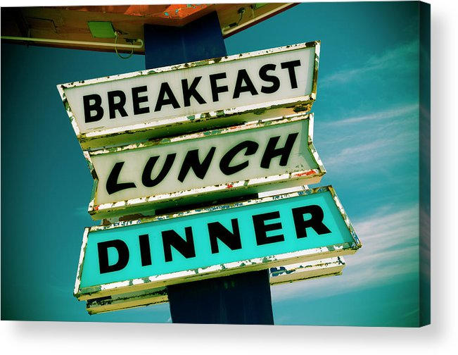 Breakfast Acrylic Print featuring the photograph New Mexico, Route 66, Gallup by Alan Copson