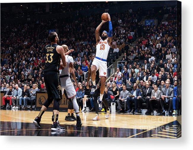 Nba Pro Basketball Acrylic Print featuring the photograph New York Knicks V Toronto Raptors by Mark Blinch
