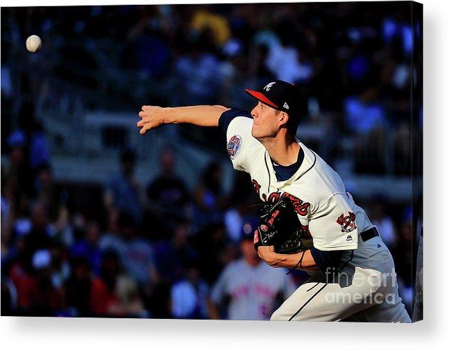 Atlanta Acrylic Print featuring the photograph New York Mets V Atlanta Braves - Game by Daniel Shirey