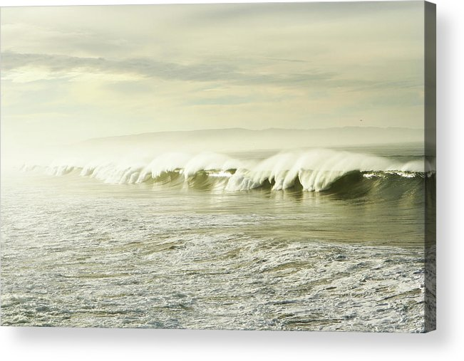 Pismo Beach Acrylic Print featuring the photograph Ocean At Sunrise by Kevinruss
