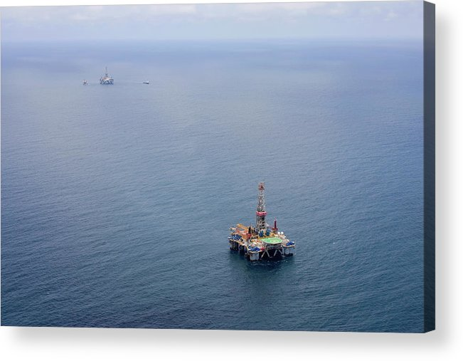 Convoy Acrylic Print featuring the photograph Oil Rigs by Heliry