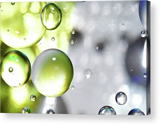 Mixing Acrylic Print featuring the photograph Oil Spheres by Dovate