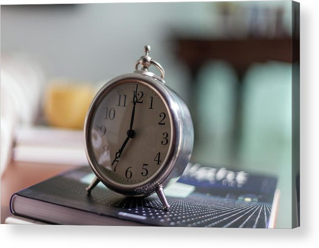 Madrid Acrylic Print featuring the photograph Old Alarm Clock by Julio Lopez Saguar