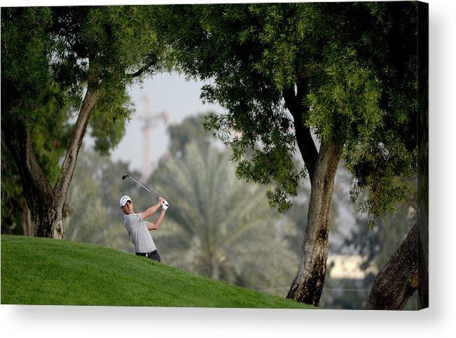 Omega Acrylic Print featuring the photograph Omega Dubai Desert Classic - Day One by Ross Kinnaird