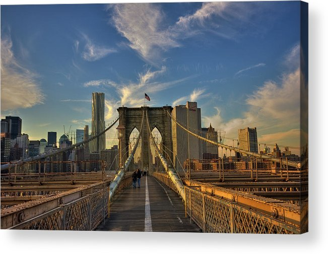 Built Structure Acrylic Print featuring the photograph On The Way To Manhattan by Alexander Matt Photography