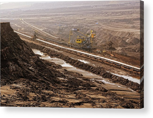 Air Pollution Acrylic Print featuring the photograph Open Strip Coal Mine by Hsvrs