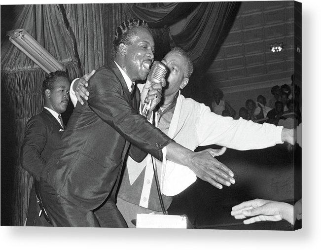 Wilson Pickett Acrylic Print featuring the photograph Performing At The Harlem Armory by Michael Ochs Archives