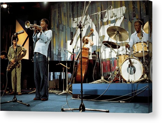Music Acrylic Print featuring the photograph Photo Of Jazz Messengers And Art Blakey by Andrew Putler