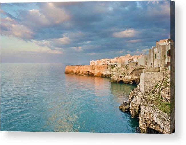 Adriatic Sea Acrylic Print featuring the photograph Polignano A Mare On The Adriatic Sea by David Madison