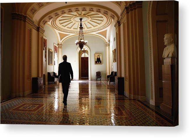 Chairperson Acrylic Print featuring the photograph Political Battle For Health Care Reform by John Moore