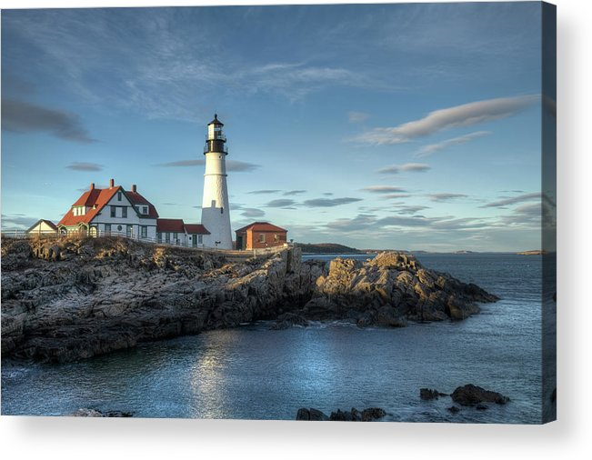 Outdoors Acrylic Print featuring the photograph Portland Head Lighthouse by Kenneth C. Zirkel