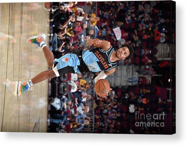Nba Pro Basketball Acrylic Print featuring the photograph Portland Trailblazers V Cleveland by David Liam Kyle