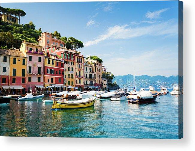 Water's Edge Acrylic Print featuring the photograph Portofino, Liguria, Italy by Brzozowska