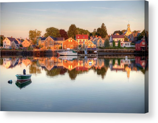 Water's Edge Acrylic Print featuring the photograph Portsmouth New Hampshire by Denistangneyjr