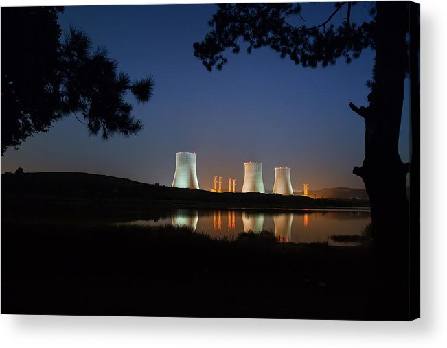 Air Pollution Acrylic Print featuring the photograph Power Station by Tolgart