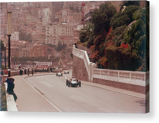 People Acrylic Print featuring the photograph Racing Cars On The Road Track At The by Heritage Images
