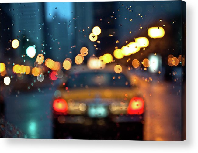 Car Interior Acrylic Print featuring the photograph Raw, Wet & Cold by Romeo Banias