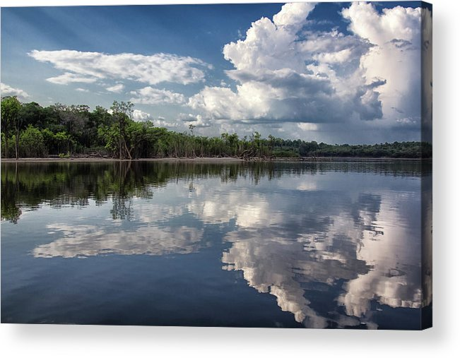 Scenics Acrylic Print featuring the photograph Reflections In Amazon River by By Kim Schandorff