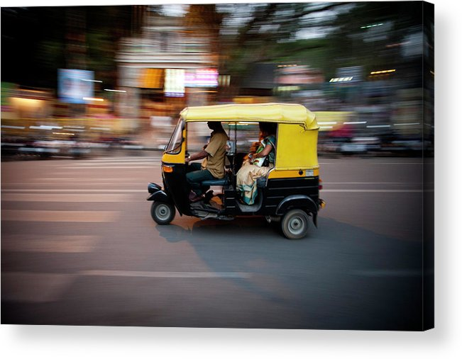 People Acrylic Print featuring the photograph Rickshaw by Javi Julio Photography