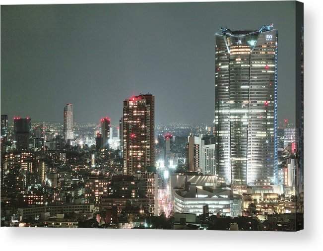 Tokyo Tower Acrylic Print featuring the photograph Roppongi From Tokyo Tower by Spiraldelight