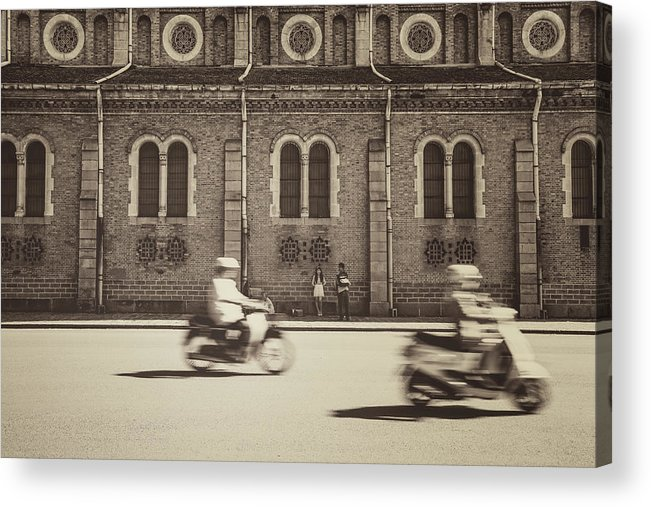 Ho Chi Minh City Acrylic Print featuring the photograph Saigon Old Corner by Jethuynh