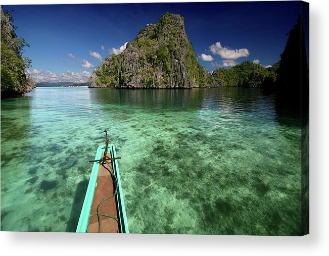 Tranquility Acrylic Print featuring the photograph Sailing Over Coral Coron by Photo ©tan Yilmaz