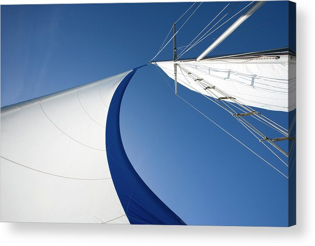 Curve Acrylic Print featuring the photograph Sailing by Tammy616