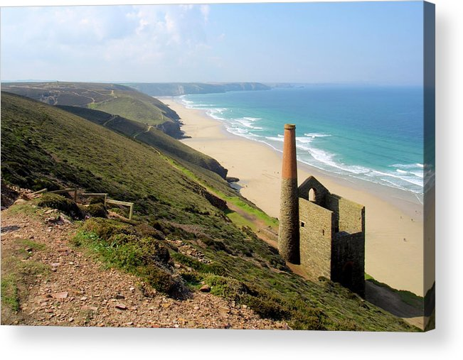 Water's Edge Acrylic Print featuring the photograph Scenic Cornwall - St Agnes Head by Chrisat