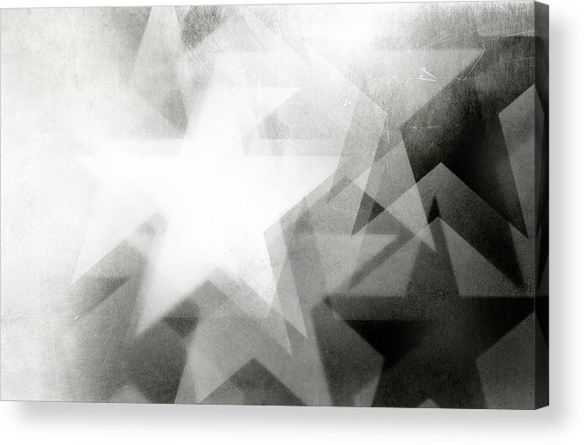 Art Acrylic Print featuring the photograph Scratchy Star Background by Loudredcreative