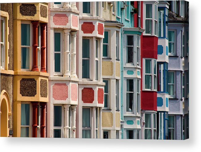 Row House Acrylic Print featuring the photograph Seafront Houses, Aberdovey, Wales by David Tait