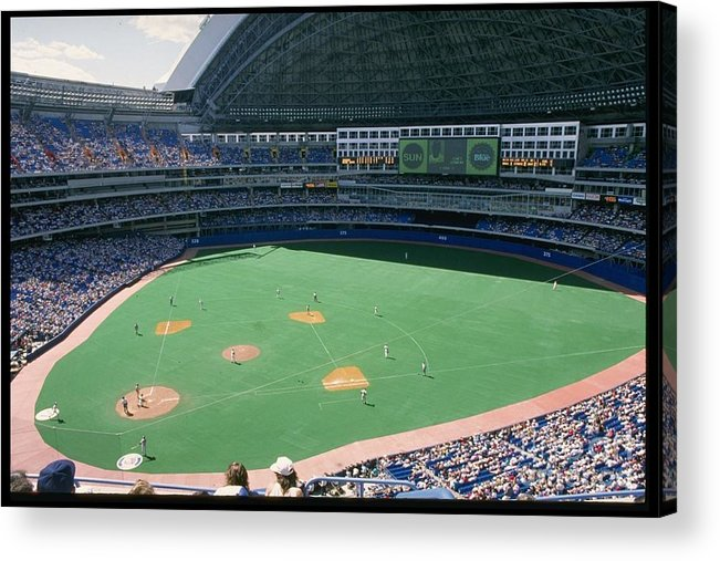 1980-1989 Acrylic Print featuring the photograph Skydome Blue Jays by Rick Stewart