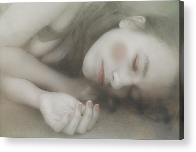 Acrylic Print featuring the photograph Sleeping Doll by Michel Romaggi