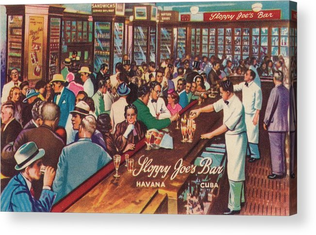 People Acrylic Print featuring the photograph Sloppy Joes Bar, Havana, Cuba, 1951 by Print Collector