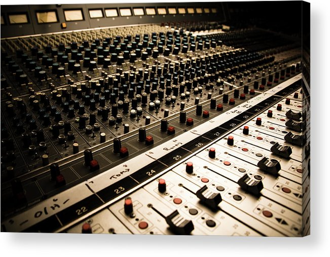 Shadow Acrylic Print featuring the photograph Sound Board In Color by Halbergman