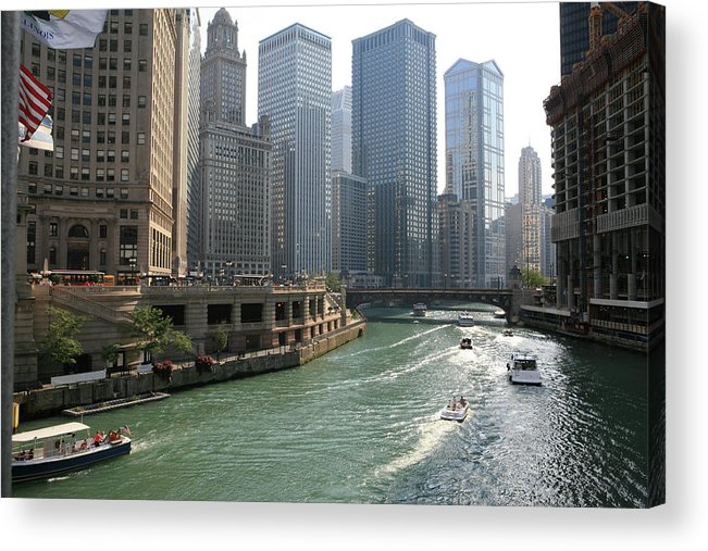 Downtown District Acrylic Print featuring the photograph Spectacular Chicago Downtown by Ekash