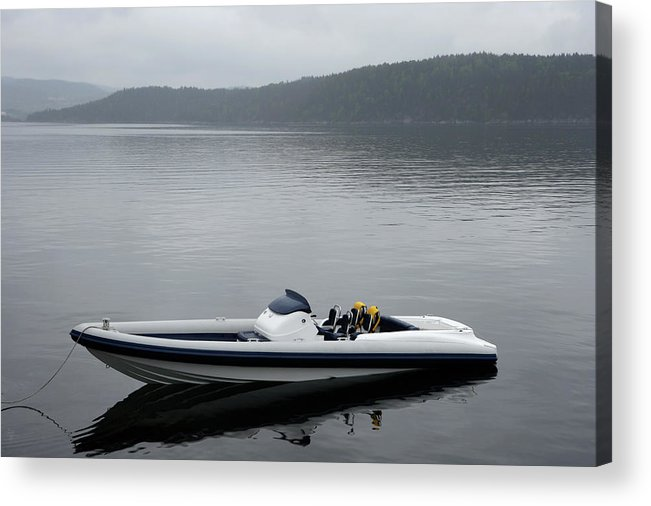 Outdoors Acrylic Print featuring the photograph Speedboat, Side View by Vegar Abelsnes Photography